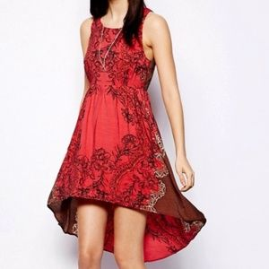 Free People Russian Red Hi-Lo Dress